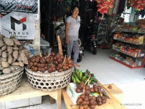 Salak sold at Gianyar Central Market, north and east of Kuta